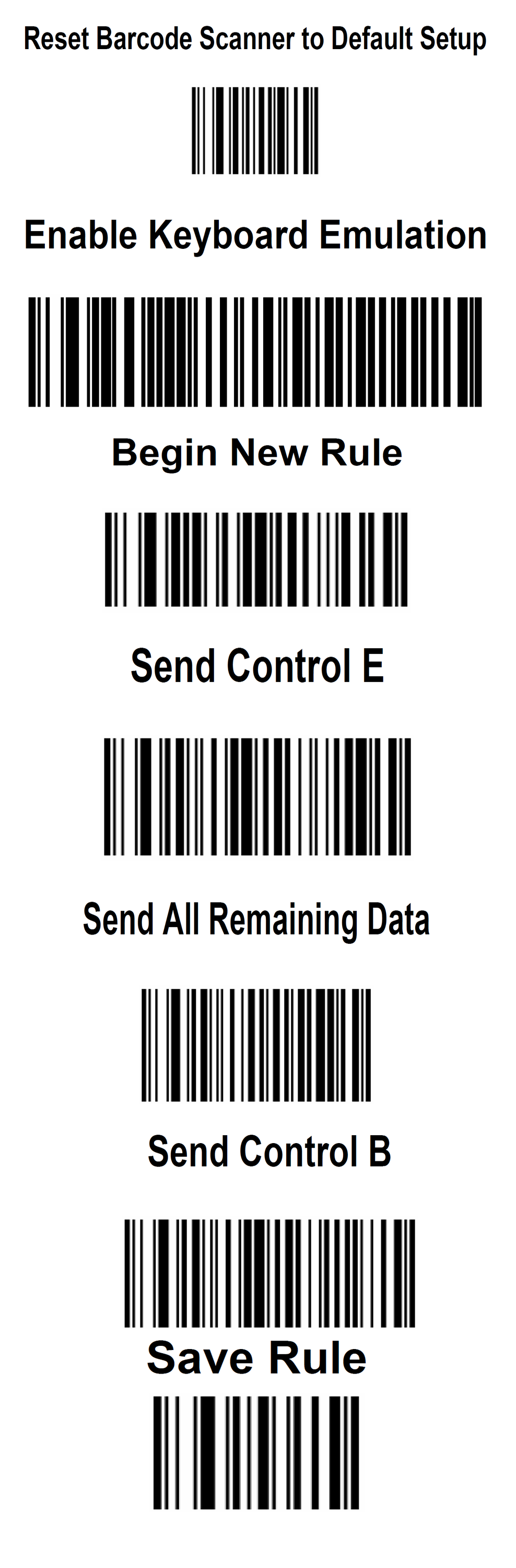 How to Setup the Symbol Barcode Scanner
